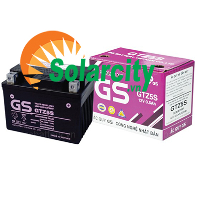 Ắc quy xe máy GS 12V - 3.5Ah (GTZ5S) Arblade, Future Neo, Wave RS